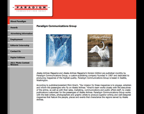 Paradigm Communications Group Website